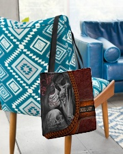 Skull Lady 2 All-over Tote aos-all-over-tote-lifestyle-front-01