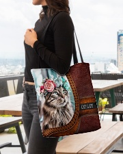 Cat Lady 3 All-over Tote aos-all-over-tote-lifestyle-front-04