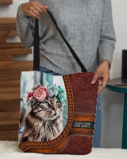 Cat Lady 3 All-over Tote aos-all-over-tote-lifestyle-front-10