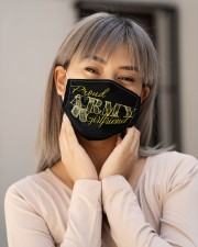 Proud Army girlfriend Cloth face mask aos-face-mask-lifestyle-17