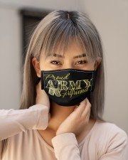 Proud Army girlfriend Cloth face mask aos-face-mask-lifestyle-18