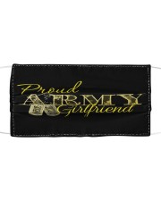 Proud Army girlfriend Cloth face mask front