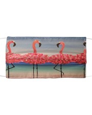 Flamingos Dance hh Cloth face mask front