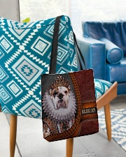 Bulldog Lady 2 All-over Tote aos-all-over-tote-lifestyle-front-01