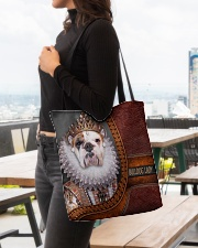 Bulldog Lady 2 All-over Tote aos-all-over-tote-lifestyle-front-04