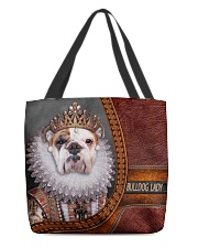 Bulldog Lady 2 All-over Tote front