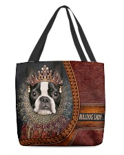 Bulldog Lady 5 All-over Tote back