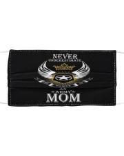 Never underestimate Mom Cloth face mask front