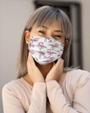 Flamingo Face Mask 26 Cloth face mask aos-face-mask-lifestyle-17