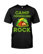 Camp Councelors Rock Camping Shir Premium Fit Mens Tee front