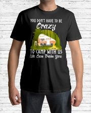 You Don't Have To Be Crazy To Camp With Premium Fit Mens Tee lifestyle-mens-crewneck-front-1