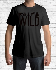 Wild Camping Hiking Forest Outdoors  Premium Fit Mens Tee lifestyle-mens-crewneck-front-1