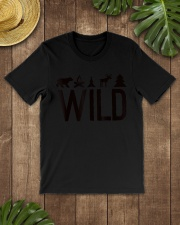Wild Camping Hiking Forest Outdoors  Premium Fit Mens Tee lifestyle-mens-crewneck-front-18