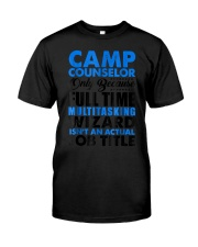 Camp Counselor Wizard Isnt An Ac Premium Fit Mens Tee front