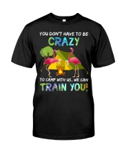 You Dont Have To Be Crazy To Camp W Premium Fit Mens Tee front