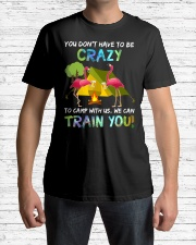You Dont Have To Be Crazy To Camp W Premium Fit Mens Tee lifestyle-mens-crewneck-front-1