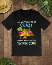 You Dont Have To Be Crazy To Camp W Premium Fit Mens Tee lifestyle-mens-crewneck-front-18