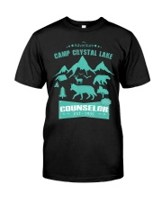 Camp Camping Crystal Lake Counselor Vintag Premium Fit Mens Tee front