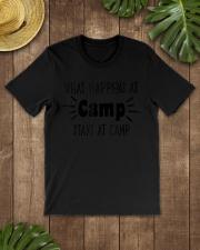 What Happens at Camp Stays Funny Men Premium Fit Mens Tee lifestyle-mens-crewneck-front-18