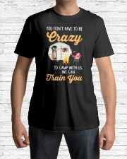 You Don't Have To Be Crazy To Camp Wi Premium Fit Mens Tee lifestyle-mens-crewneck-front-1