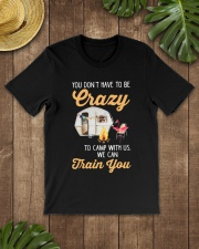 You Don't Have To Be Crazy To Camp Wi Premium Fit Mens Tee lifestyle-mens-crewneck-front-18