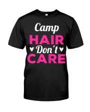 Womens Funny Camping Music Festival Camp H Premium Fit Mens Tee front