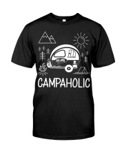 Campaholic Camping Festival Campers Camp Gift Premium Fit Mens Tee front