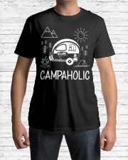Campaholic Camping Festival Campers Camp Gift Premium Fit Mens Tee lifestyle-mens-crewneck-front-1