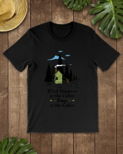 What Happens at the Cabin Stays at the Cabin C Premium Fit Mens Tee lifestyle-mens-crewneck-front-18