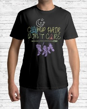 Womens Camp Hair Don't Care Camping Campe Premium Fit Mens Tee lifestyle-mens-crewneck-front-1