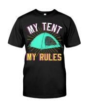 Camper Camp Tent Premium Fit Mens Tee front