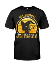 Womens Camp Counselor Halloween Costume For Tea Premium Fit Mens Tee front