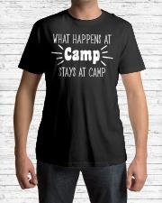 What Happens at Camp Stays Shirt F Premium Fit Mens Tee lifestyle-mens-crewneck-front-1