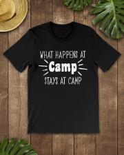 What Happens at Camp Stays Shirt F Premium Fit Mens Tee lifestyle-mens-crewneck-front-18