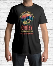 You Don't Have To Be Crazy To Camp  Premium Fit Mens Tee lifestyle-mens-crewneck-front-1