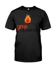 Womens Gone Glamping Camping Sayings Cute Glamper Premium Fit Mens Tee front
