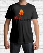 Womens Gone Glamping Camping Sayings Cute Glamper Premium Fit Mens Tee lifestyle-mens-crewneck-front-1