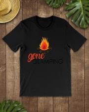 Womens Gone Glamping Camping Sayings Cute Glamper Premium Fit Mens Tee lifestyle-mens-crewneck-front-18