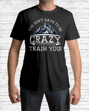 You Don't Have To Be Crazy To Camp With Us Premium Fit Mens Tee lifestyle-mens-crewneck-front-1