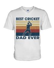Cricket Dad V-Neck T-Shirt thumbnail