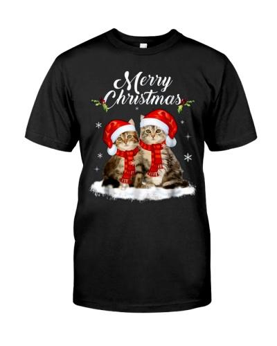 Merry Christmas Cat Shirt