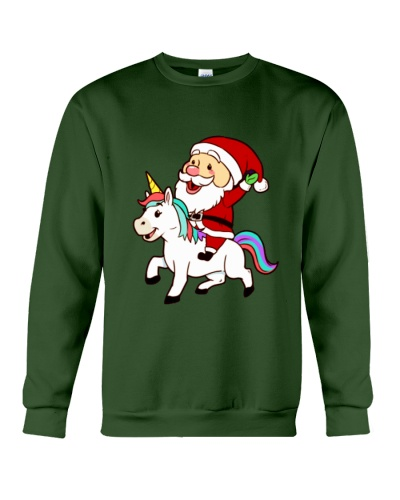 Santa Claus Riding A Unicorn Christmas