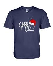 Mens-Funny-Christmas-Couple-Matching V-Neck T-Shirt thumbnail