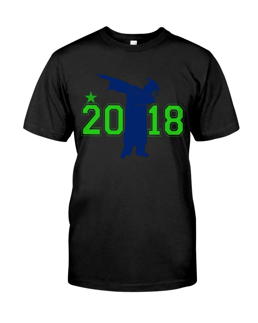 Senior 2018 Graduation Dabbing Shirt Classic T-Shirt