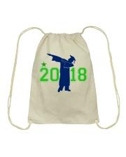 Senior 2018 Graduation Dabbing Shirt Drawstring Bag thumbnail