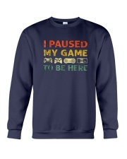 I-Paused-My-Game-to-be-Here Crewneck Sweatshirt thumbnail