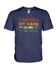 I-Paused-My-Game-to-be-Here V-Neck T-Shirt thumbnail