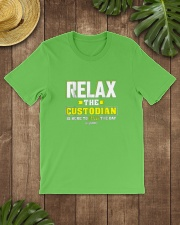 Relax-the-Custodia-is-here-Funny-Custodian-Shirt Classic T-Shirt lifestyle-mens-crewneck-front-18