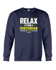 Relax-the-Custodia-is-here-Funny-Custodian-Shirt Crewneck Sweatshirt thumbnail