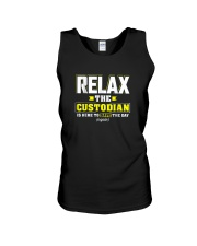 Relax-the-Custodia-is-here-Funny-Custodian-Shirt Unisex Tank thumbnail